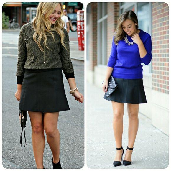 j crew// a line skirt Black a line mini skirt. From factory. 17 ...