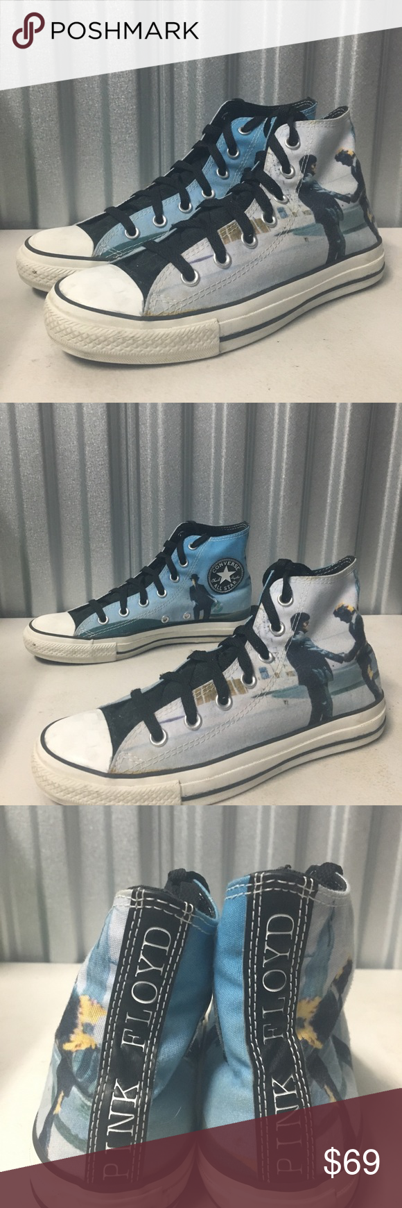 Pink Floyd Wish You Were Here Converse Pre owned. Men's 6
