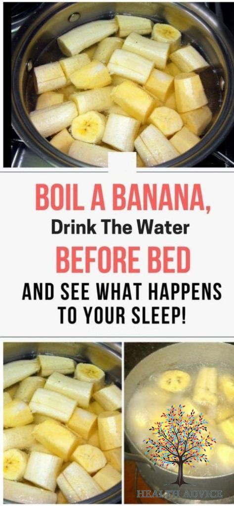 Sleep Natural Remedy Banana Cinnamon Tea Water before