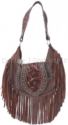 ad8034a8f5 Brown Bomber Fringe Hobo Purse by Double J Saddlery.