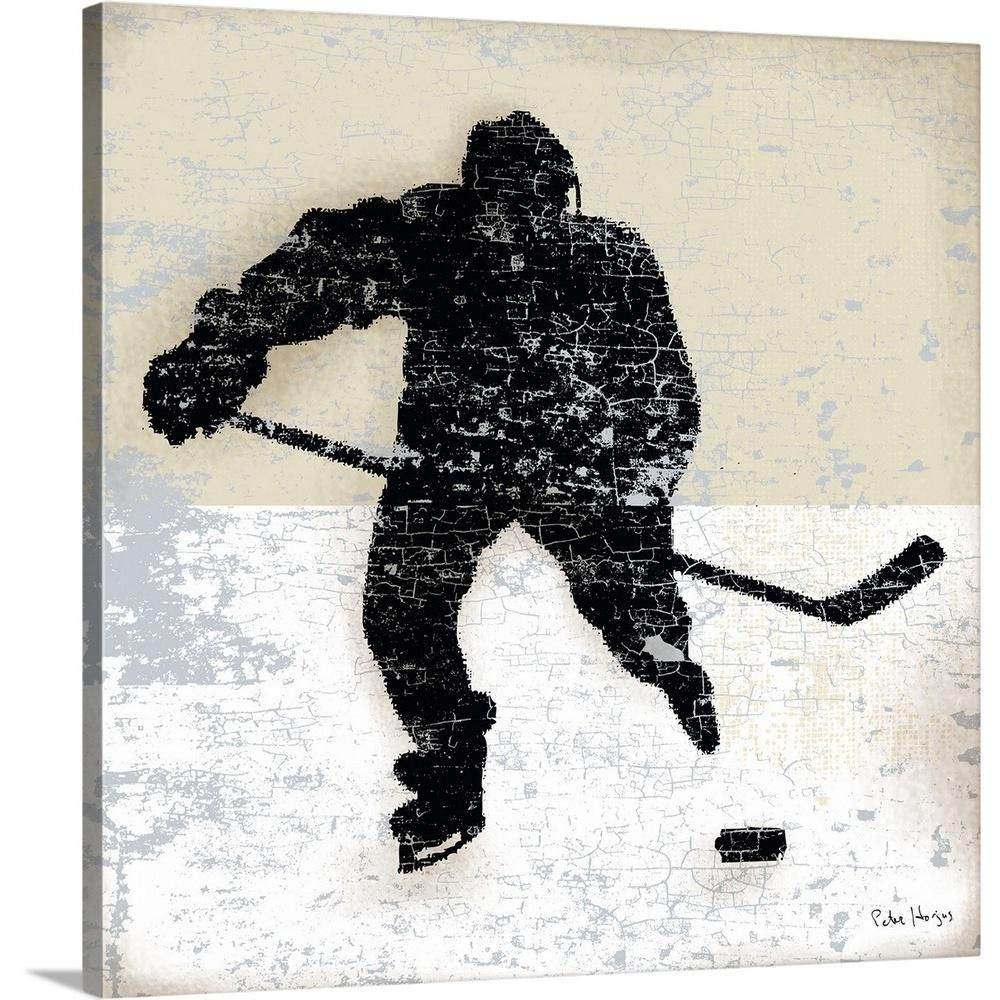 Greatbigcanvas Vintage Hockey Player By Peter Horjus Canvas Wall Art Multi Color Products Art Canvas Wall Art Wall Art Prints
