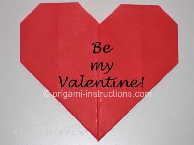 Easy Origami Heart Folding Instructions How To Make An Easy