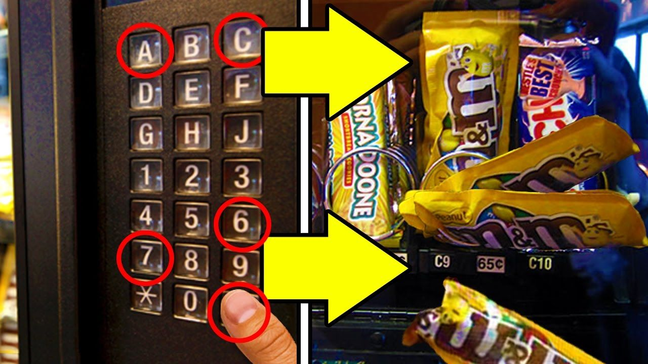 Get free candy from any vending machine life hacks