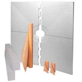 Schluter Systems Kerdi Shower Kit White Styrene Shower Base 72 In