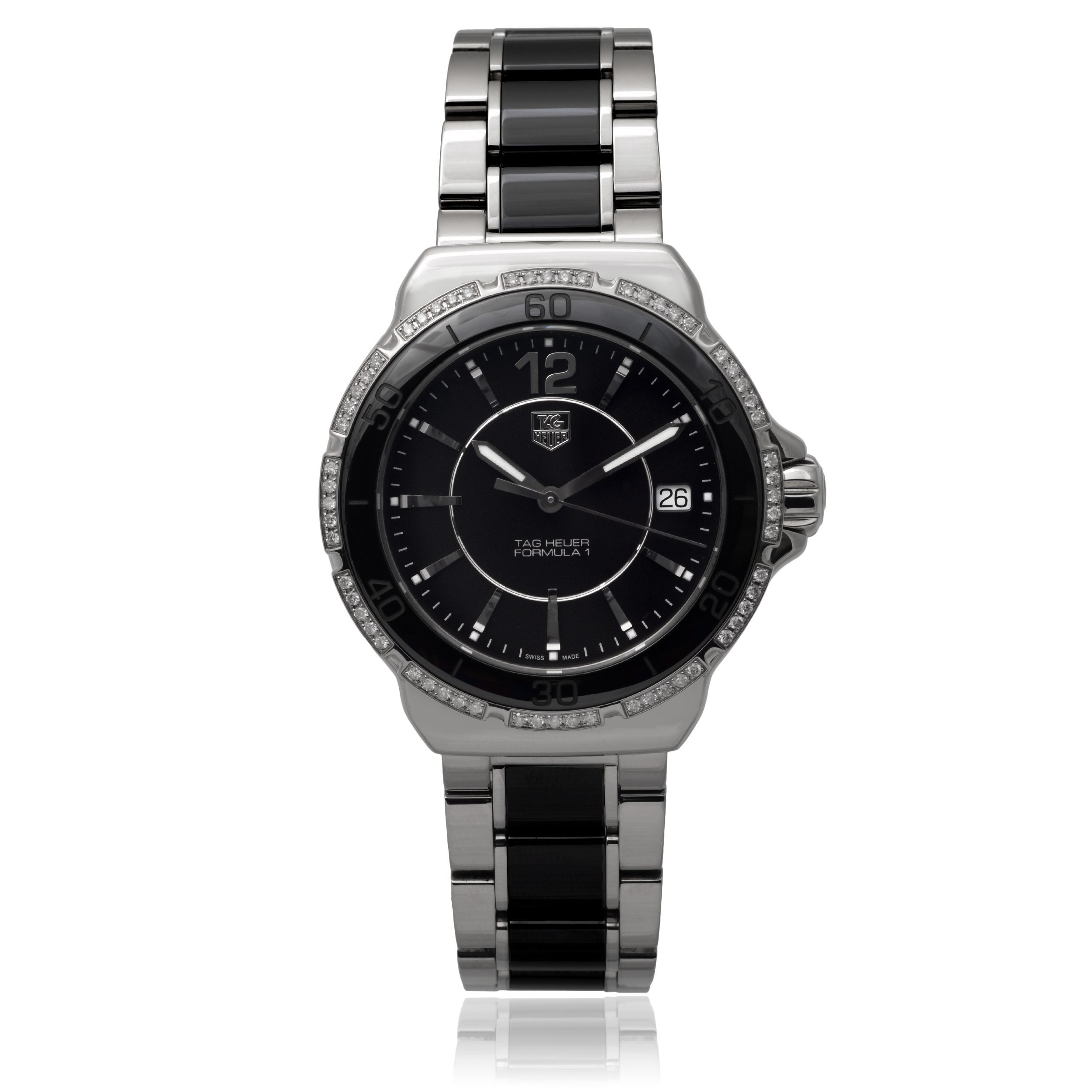 Tag Heuer Women's 'Formula 1' 1/3 TDW Diamond Link Watch