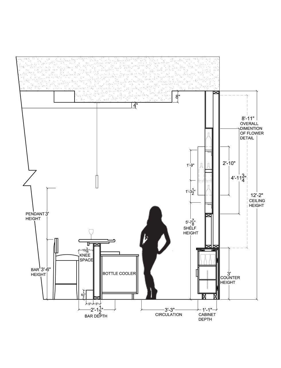Image Result For Restaurant Back Bar Standard Height Bar Design