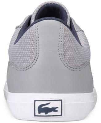 c24fea5b9 Lacoste Men s Lerond 117 3 Cam Sneakers - Gray 11.5