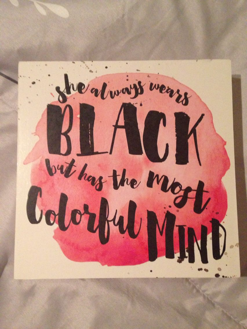 Black and colorful