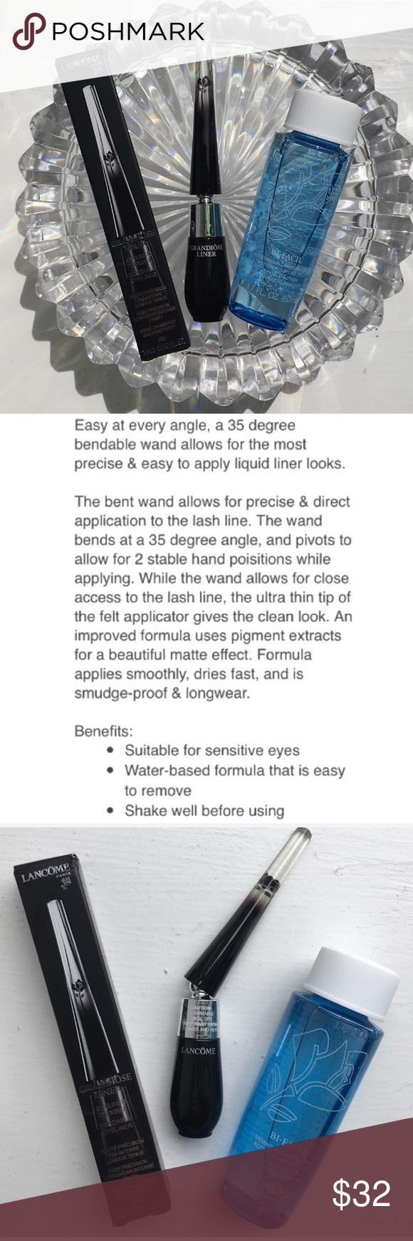 NEW💜Lancôme 2Pc Grandiose Eyeliner+BiFacils Travel size