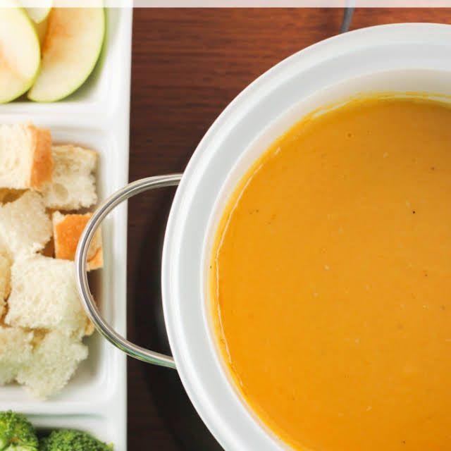 Cheddar Cheese Fondue #brothfonduerecipes