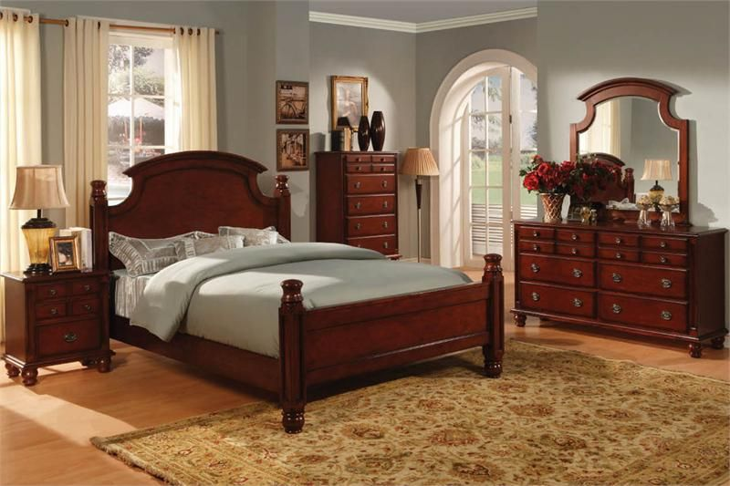 Cherry Bedroom Furniture Setseuropean Style Old World Set European