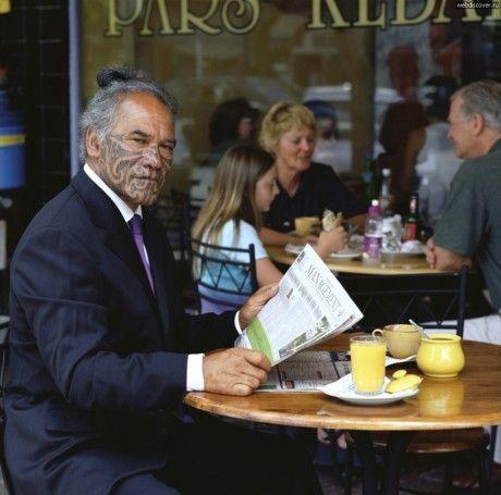 Nga Puhi elder, 'activist' and actor Kingi Taurua by Patricia Steur