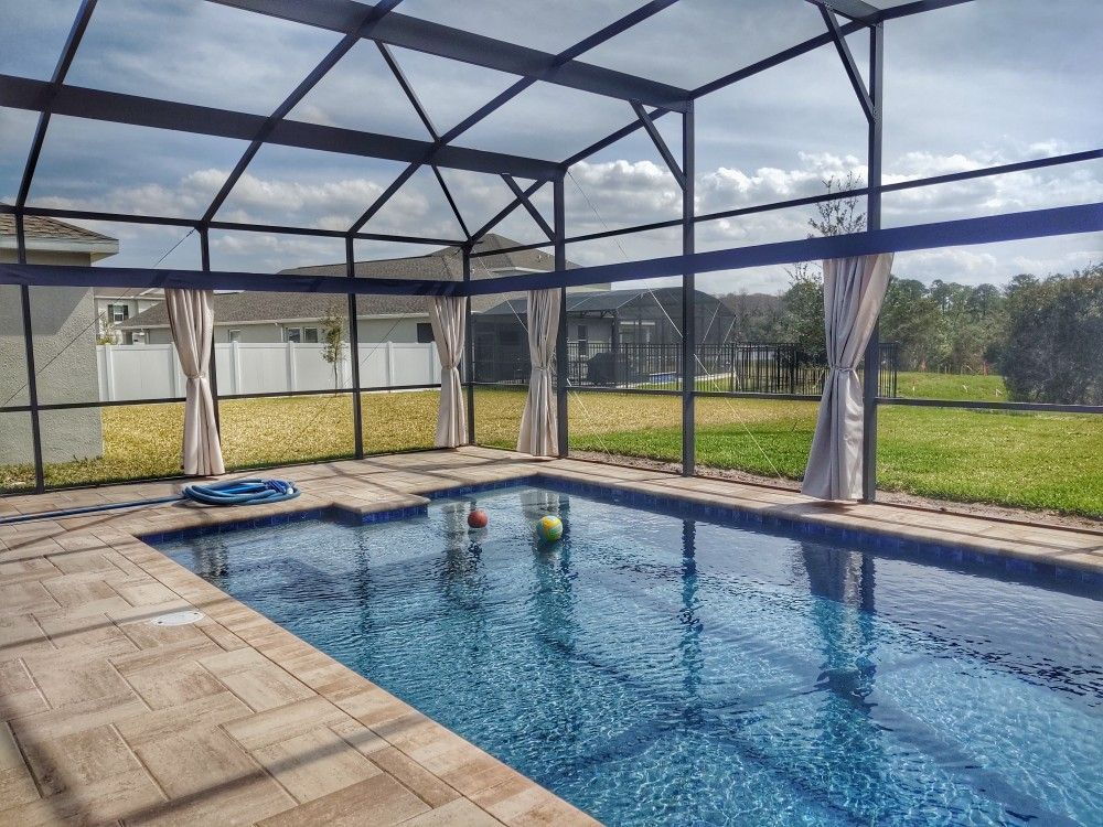 Our Custom Made Sunbrella Curtains On Our Patented Aluminum Track System Will Make You Feel Like You Love At A Fine Re In 2020 Outdoor Privacy Shade Sail Custom Shades