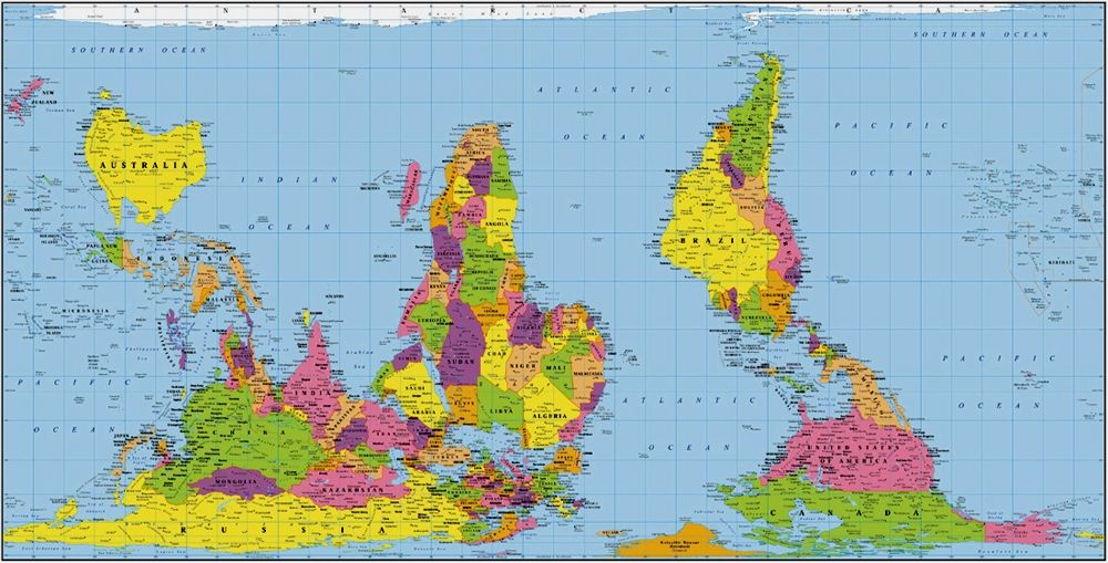 World Map Without Distortion Maps That Might Make You Rethink How