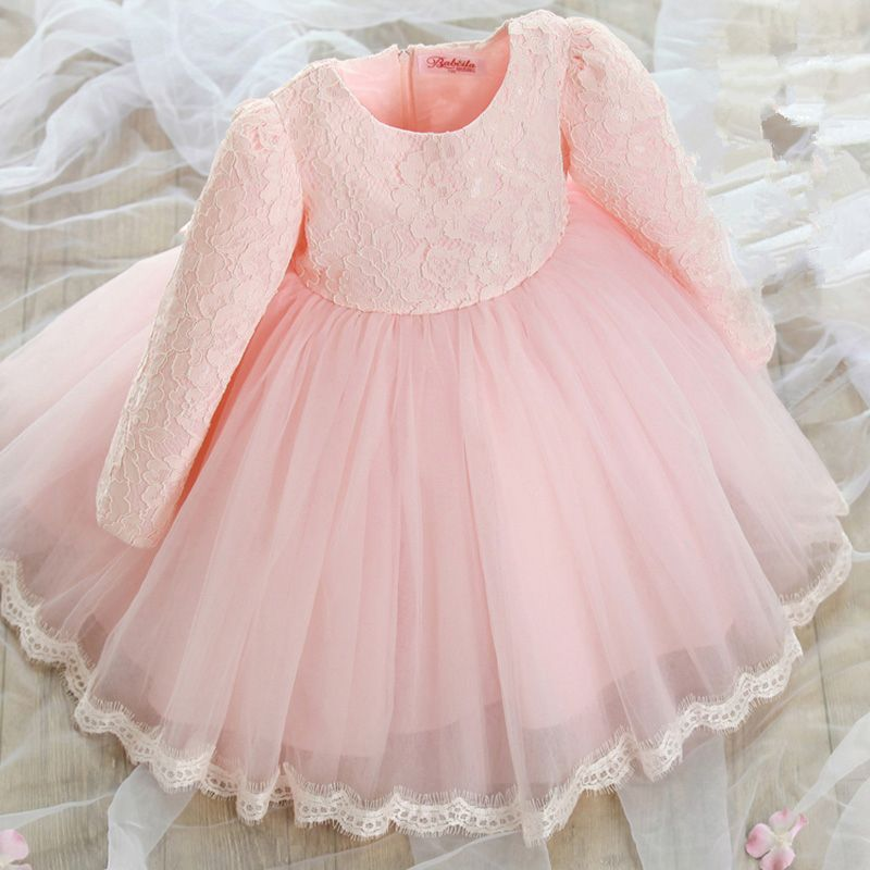 2016 new children autumn and winter girl Princess Dress baby dress ...