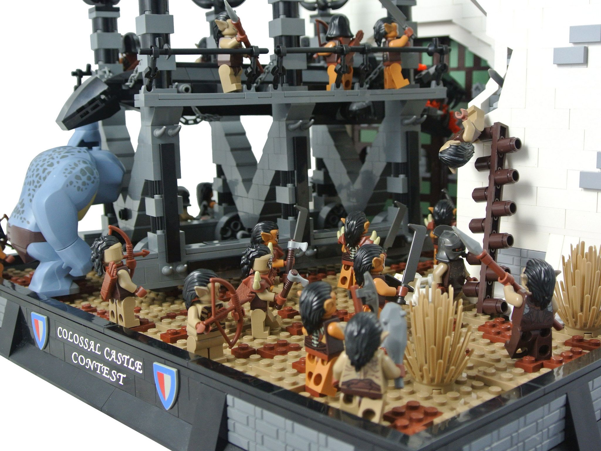 Siege Of Minas Tirith With Images Cool Lego Creations Cool