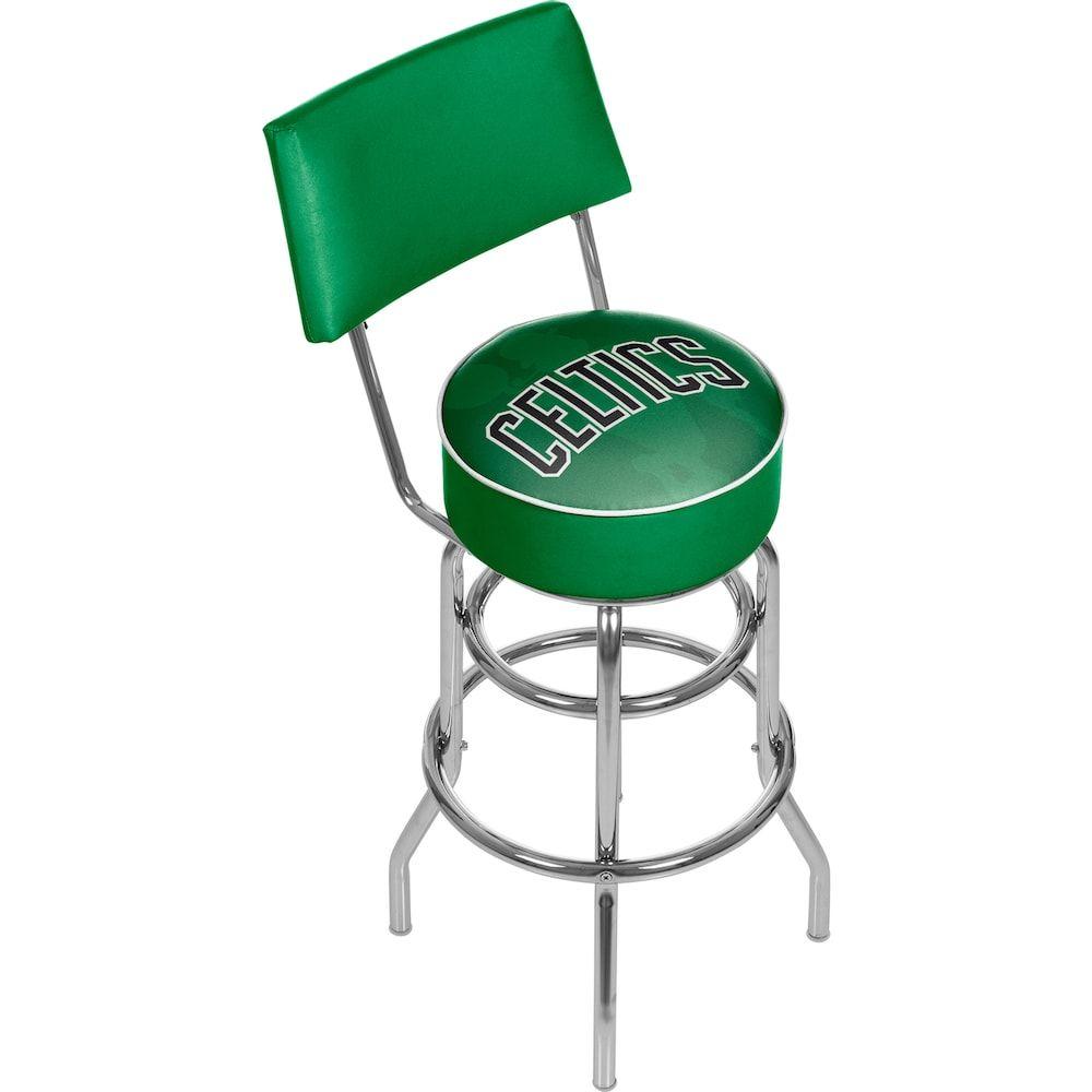 Boston Celtics Padded Swivel Bar Stool With Back Swivel Bar