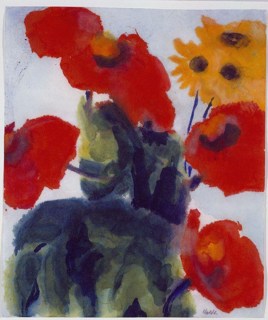 Emil Nolde Mohnblumen Gelbe Bluten By Petrus Agricola Emil Nolde Flower Art Art