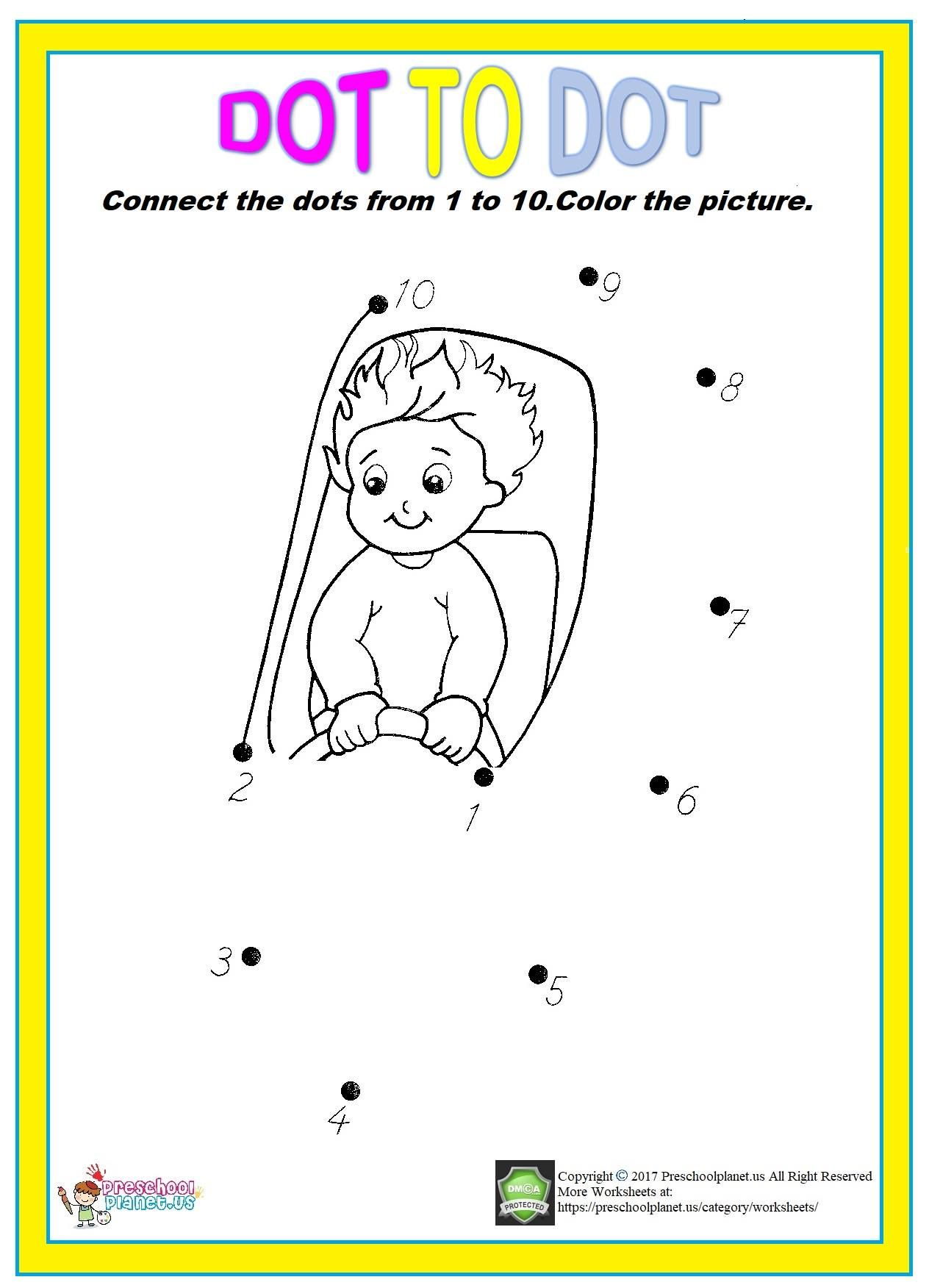 Easy Dot To Dot Worksheet