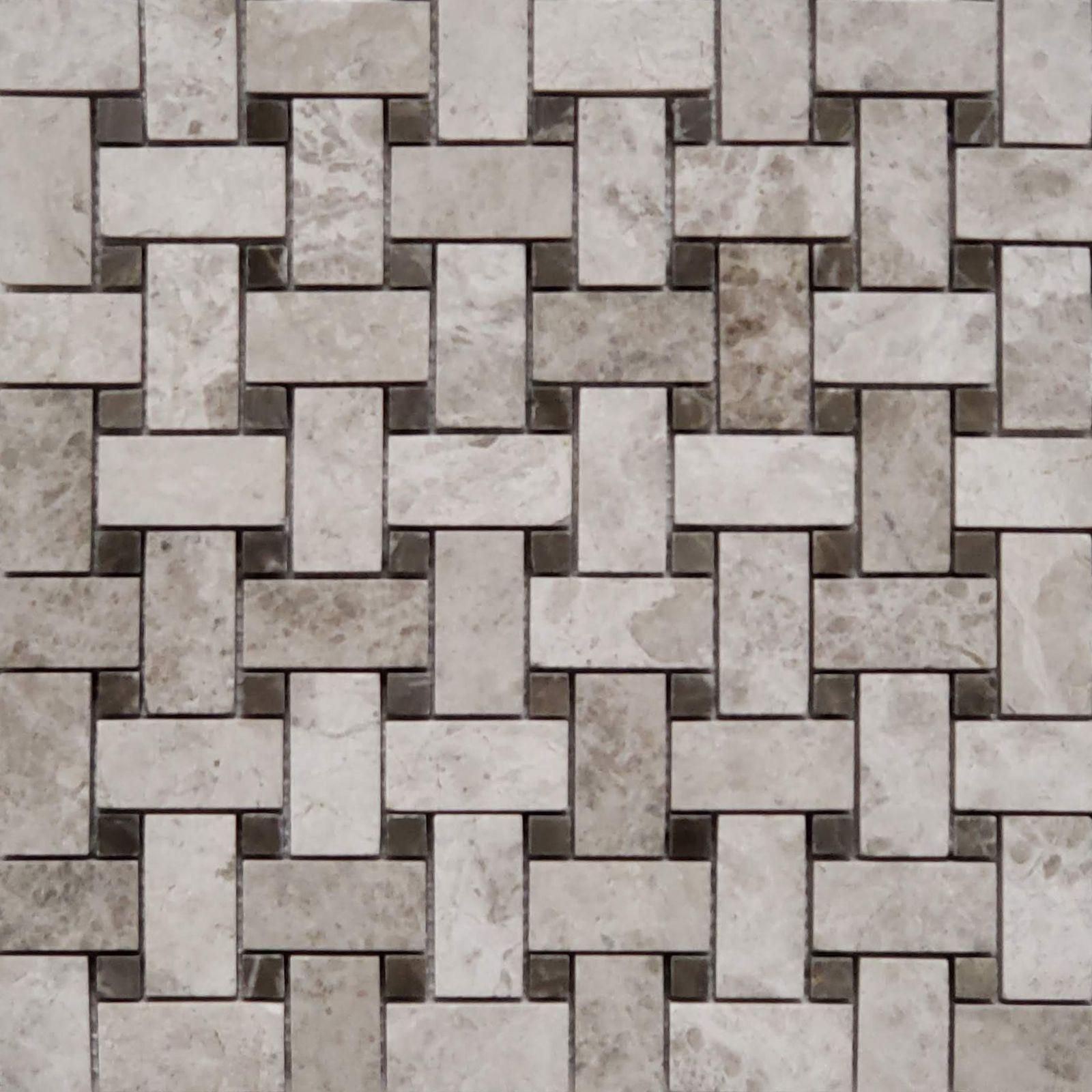 - Basketweave Tile Mosaic Tundra Grey Basket Weave Tile, Flooring
