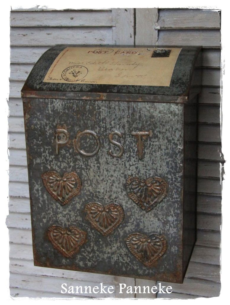 Original French Post Box La Poste Circa 1962s Vintage Mailbox