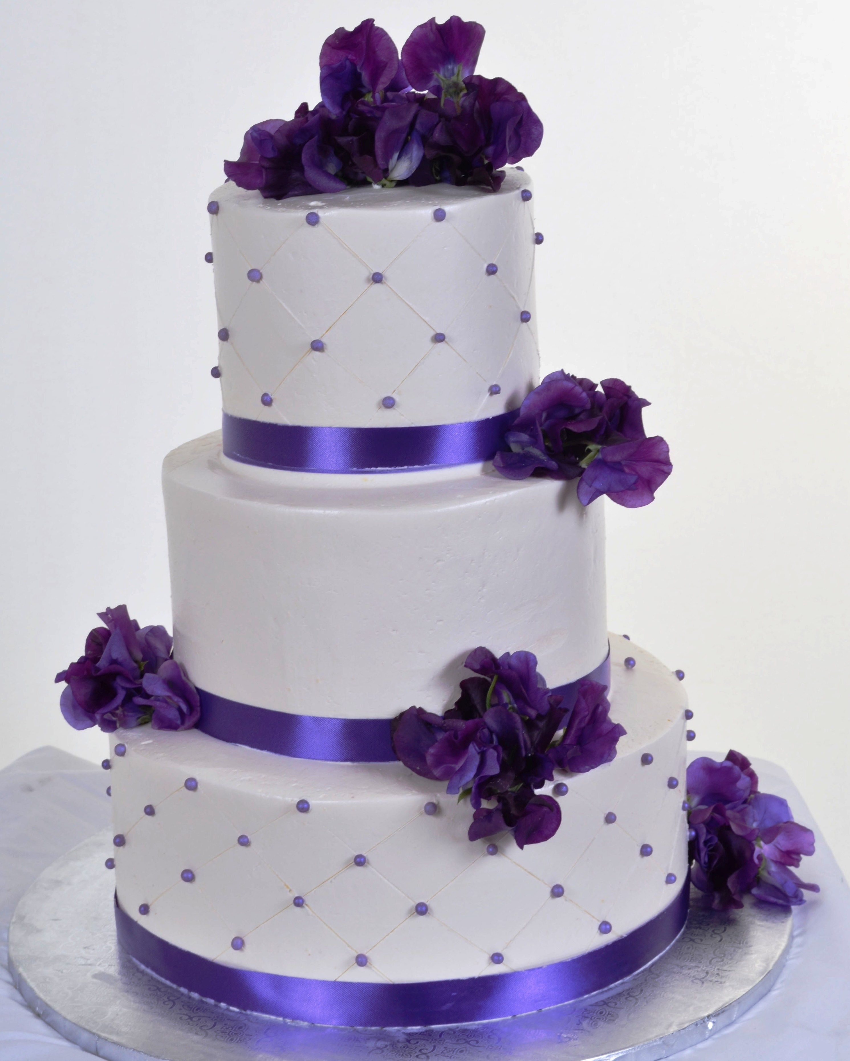 Purple Wedding Cakes There are two options the most