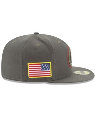 half off 6eb17 70e7d New Era San Francisco 49ers Salute To Service 59FIFTY Fitted Cap - Brown 6  7 8