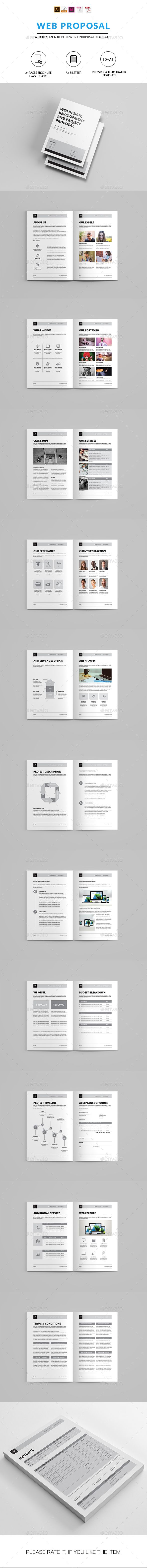 Minimal Proposal Template Vector Eps Indesign Indd Ai Illustrator