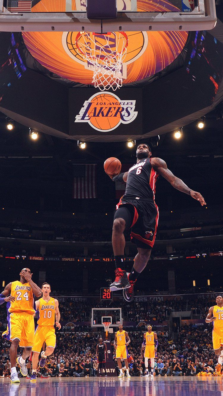 Lebron James Nba Basketball Dunk Wallpaper Hd Iphone