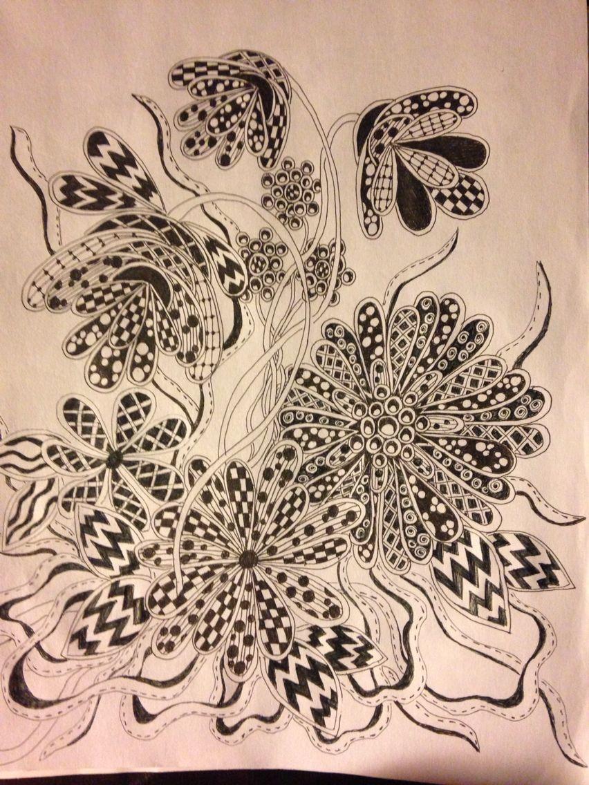 Ink doodles by debra lloyd flower drawings pinterest doodles