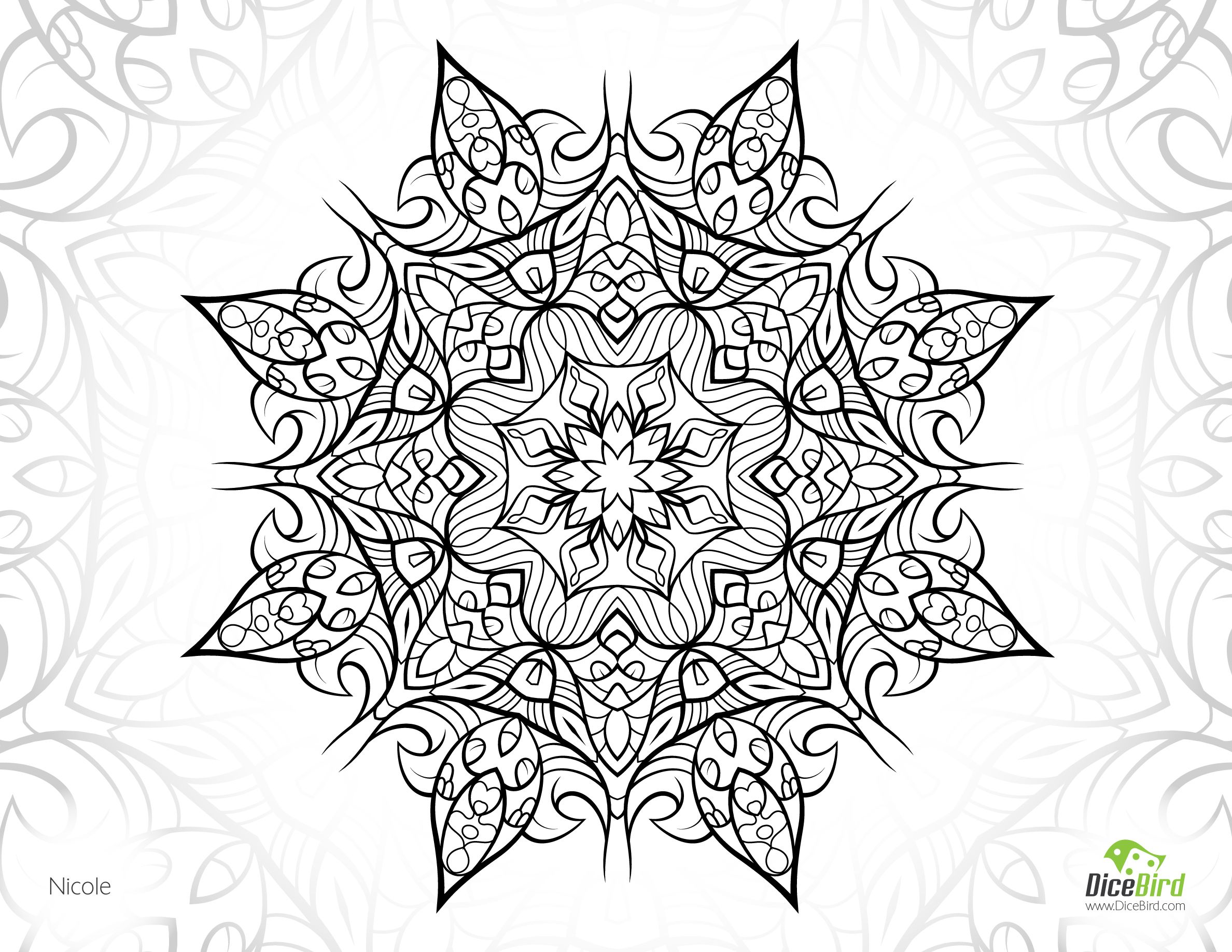 Complex Flower Coloring Pages Home
