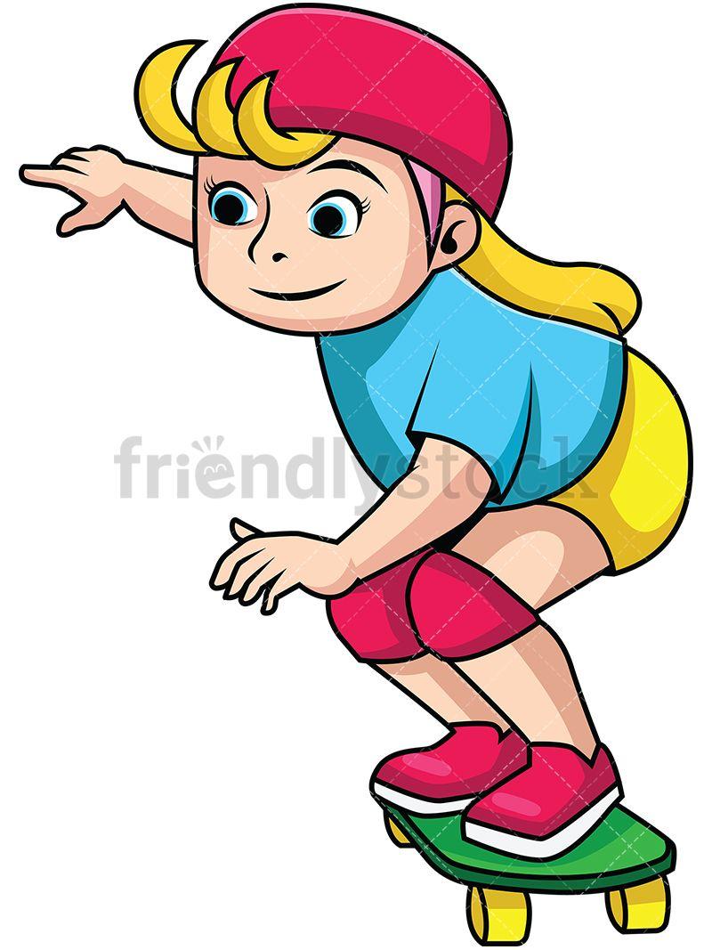 Woman Running With Skateboard Cartoons Vector Running Women