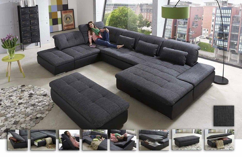 die besten 25 wohnlandschaft ideen auf pinterest wohnlandschaft grau graues ecksofa und. Black Bedroom Furniture Sets. Home Design Ideas
