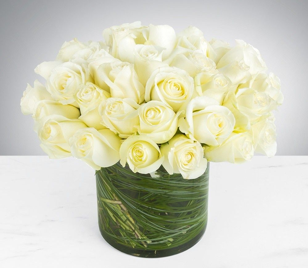 Classic White Roses Floral Designs Florists And Seattle