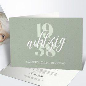 Einladungskarten 80 Geburtstag Selbst Gestalten Geburtstag