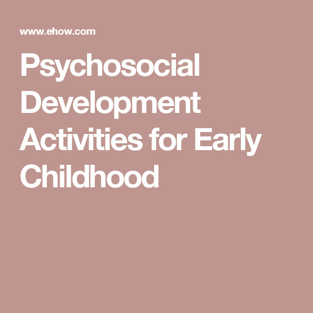 early childhood development activities pdf