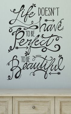 Take A Look At This Black U0027Life Doesnu0027t Have To Be Perfectu0027 Wall Quotes™  Decal On Zulily Today!