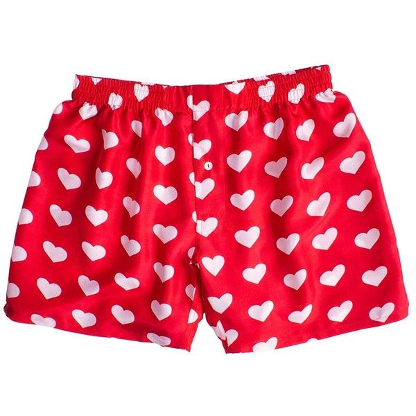 Silk Heart Boxers By Royal Silk Valentine S Day White On Red Men S