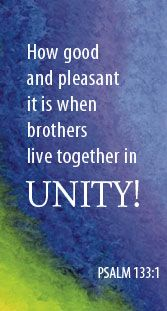 Quick devotion for families: Living in Unity (Psalm 133:1)