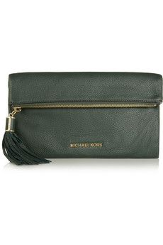 MICHAEL Michael Kors Textured leather clutch | THE OUTNET