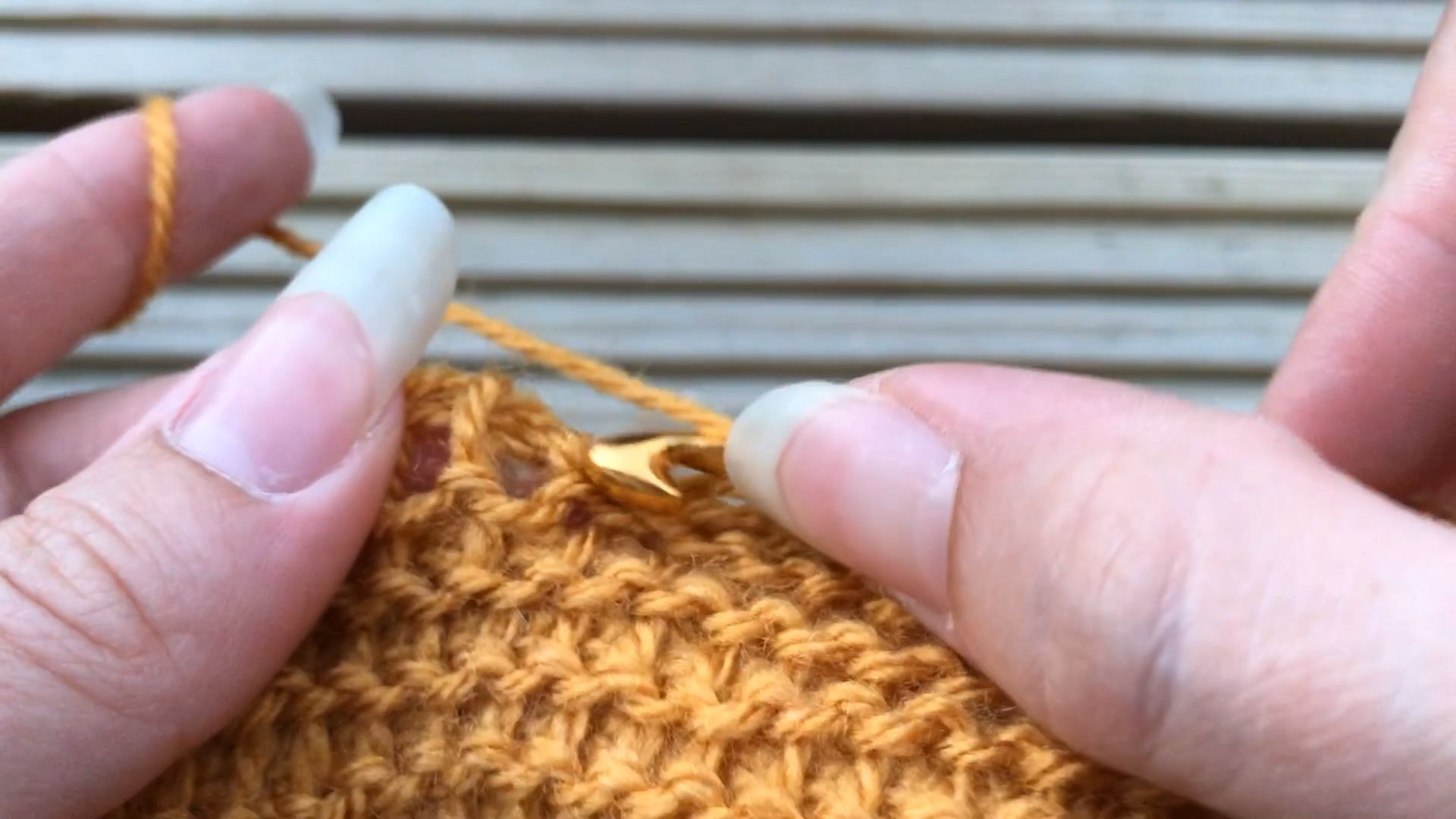 Point de Purl tunisien / tutoriel de crochet gratuit /    – Stricken