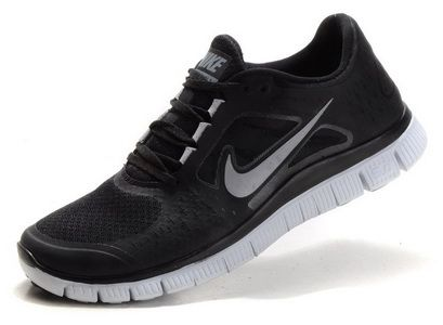 los angeles be97c 2bcb2 Nike Free Run +3 Mens Womens Black Silver | Classic Running ...