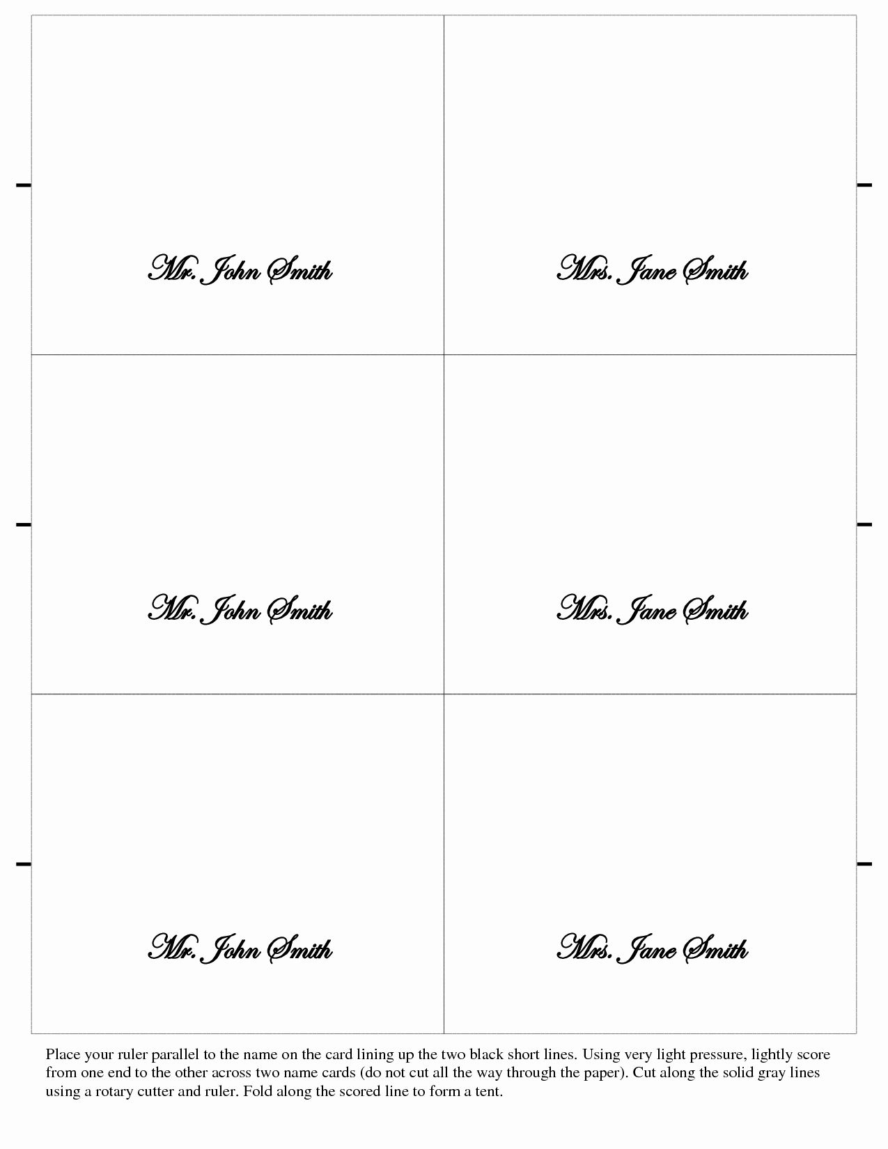 Free Place Card Template Beautiful Card Printable Gallery Category Page 42 In 2020 Place Card Template Card Templates Printable Wedding Place Card Templates