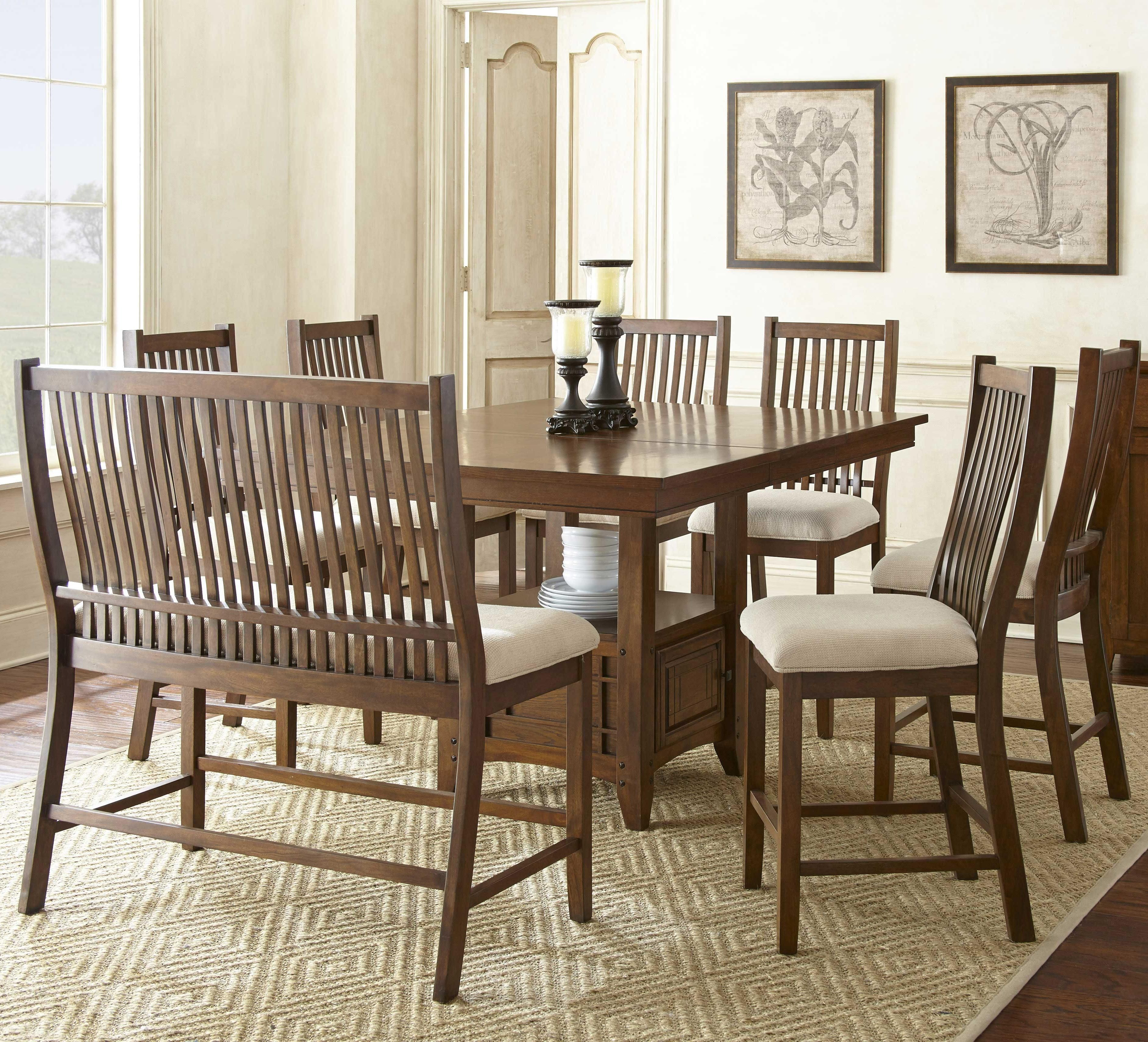 Inspired By Arts And Crafts Style This Counter Height Dining Set