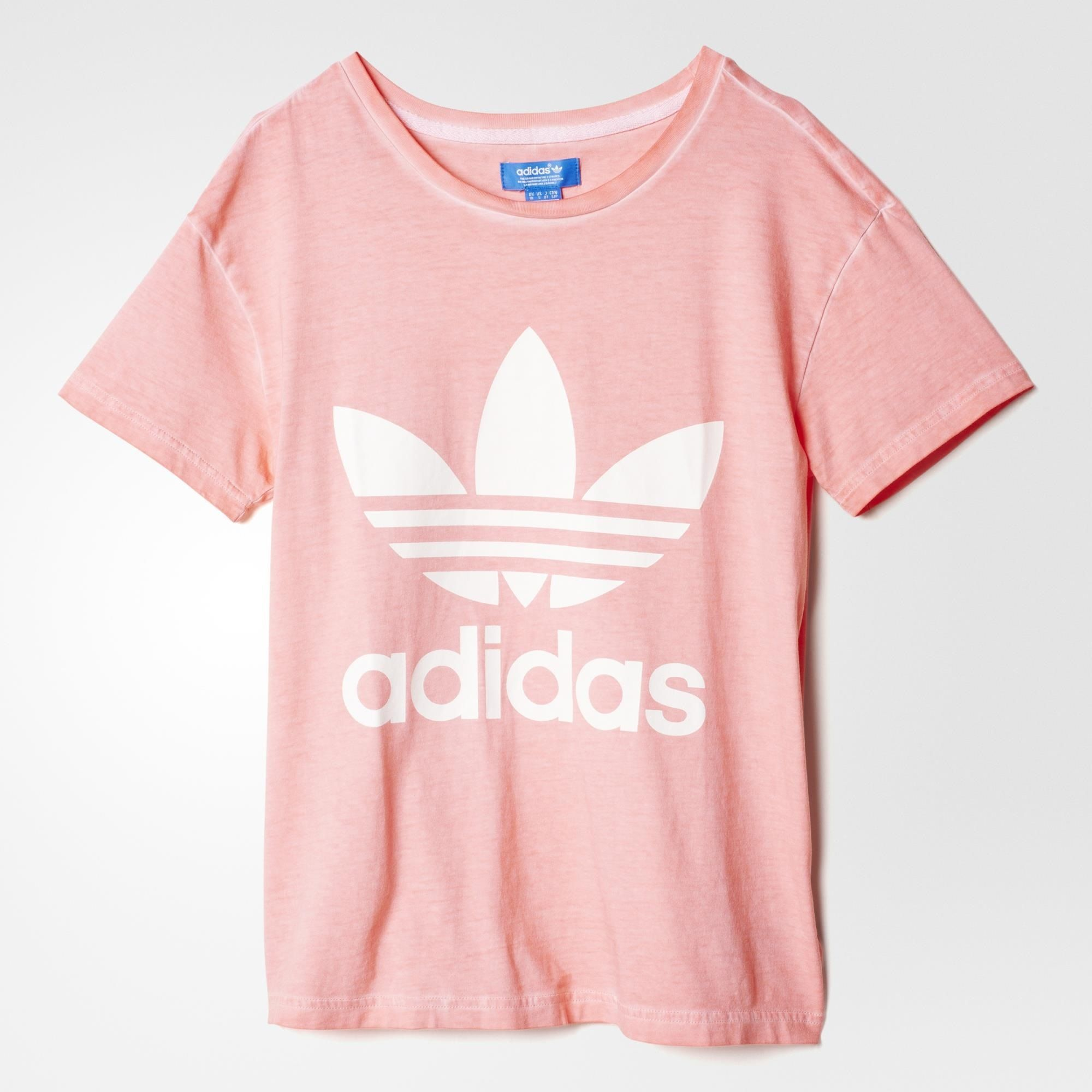 adidas Premium Essentials Washed T Shirt Peach Pink