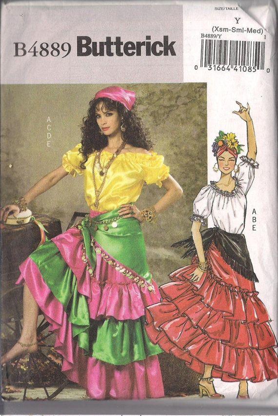 Flamenco Latin Carmen Miranda Costume Pattern Sewing by Zinnias ...