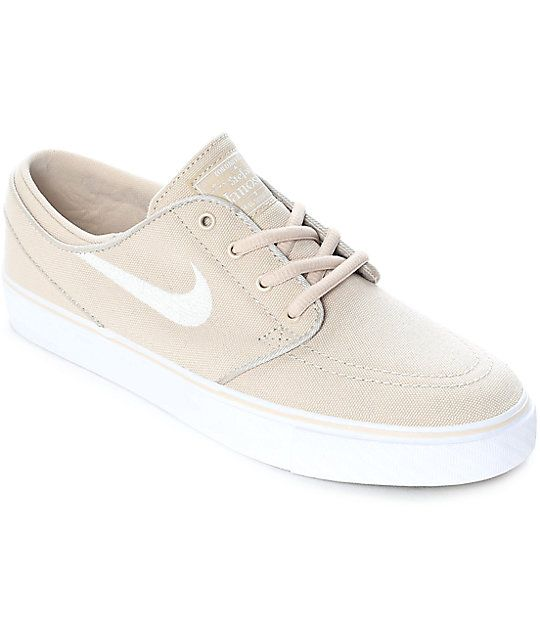 finest selection 221e1 fc44e Nike SB Janoski Summit Oatmeal Canvas Women s Skate Shoes