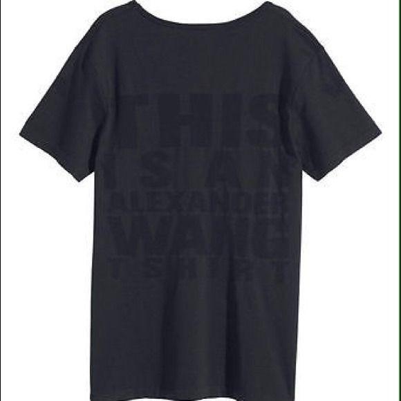 Alexander Wang x H&M T-Shirt Alexander Wang x H&M: Fast drying T-shirt, Size SMALL, Black; Alexander Wang hm **sold** Alexander Wang Tops Tees - Short Sleeve