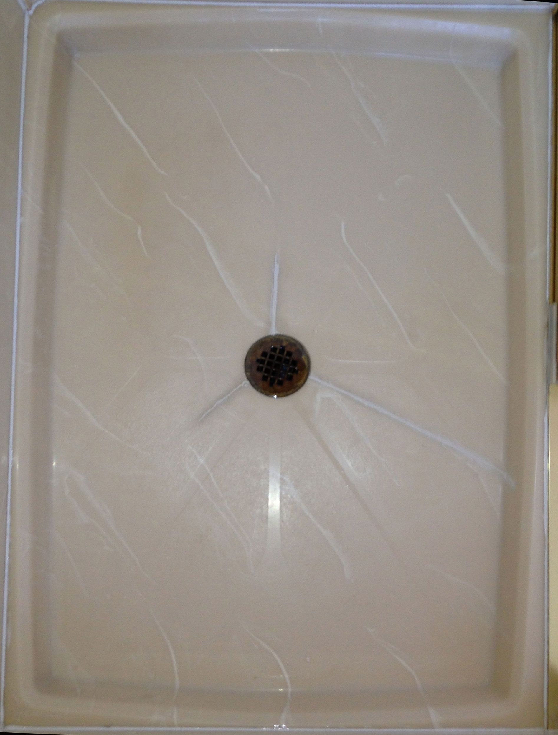 Cracked And Repaired Shower Pan Shower Pan Glass Tub