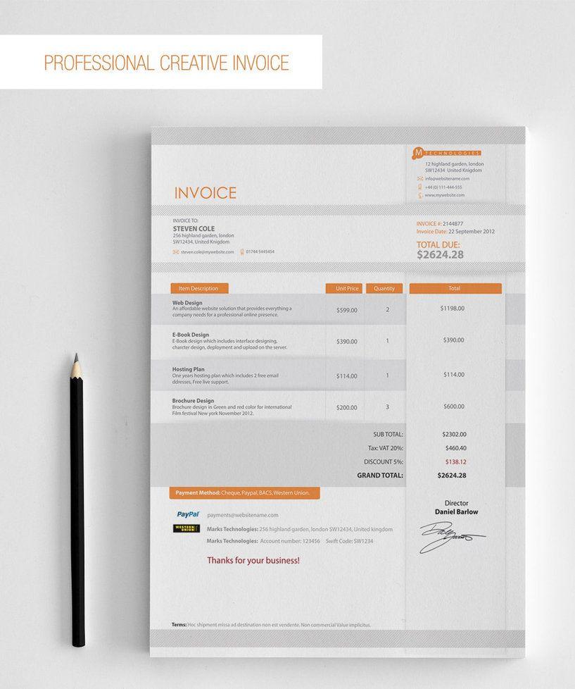 Invoice design by hrasheed on deviantART | Things I like | Pinterest ...